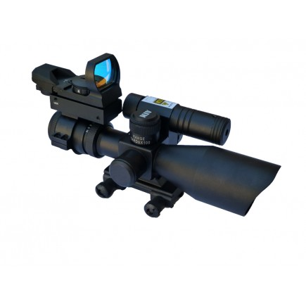 2.5-10 X 40 Scope w/ Green Laser & Electro Sight