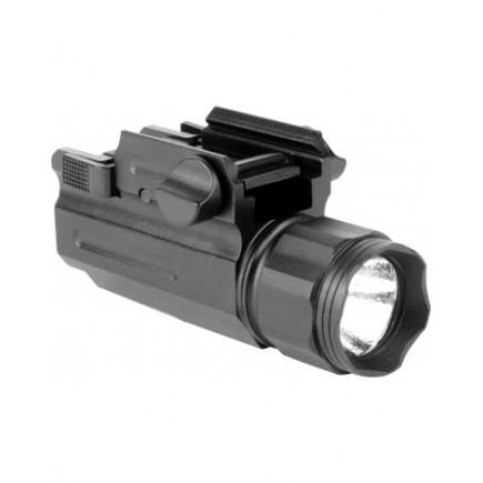 220 Lumens LED Flashlight W/Quick Release Mount