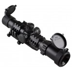 "Sniper Tactical Scope 1-4x28 5"" Eye Relief with Cantilever mount and Etched Horseshoe Glass reticle"