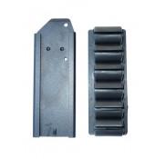 MOSSBERG 500 590 SIDE SADDLE TACTICAL SHOTGUN SHELL HOLDER 6 CARRIER