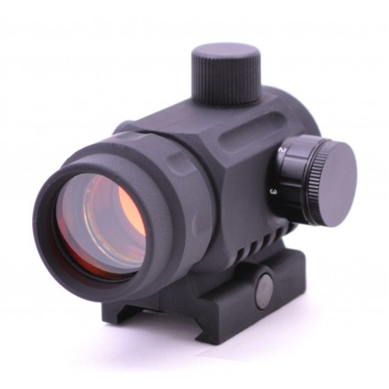 Polymer Mini Micro CQB Reflex Red Dot Scope Sight  BLACK Picatinny