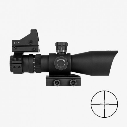 3-9x42 REDCON Tactical Scope  Red Dot Sight Fits Picatinny Rails