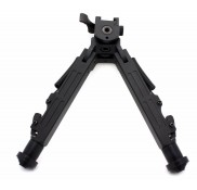 Tactical Rifle Bipod Square Leg Spring Lock 7.5 to 10 inch QD Picatinny Mount