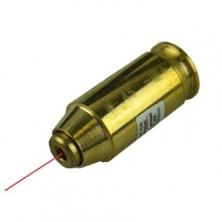 .45 ACP Pistol Cartridge Laser Bore Sighter
