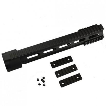 "AR-15 M4 .223 5.56 12"" Full Rifle Length Modular Free Float Quad Rail"