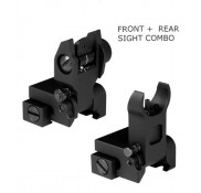 AR LOW PROFILE FRONT & REAR  FLIP-UP SIGHT / V2 SET