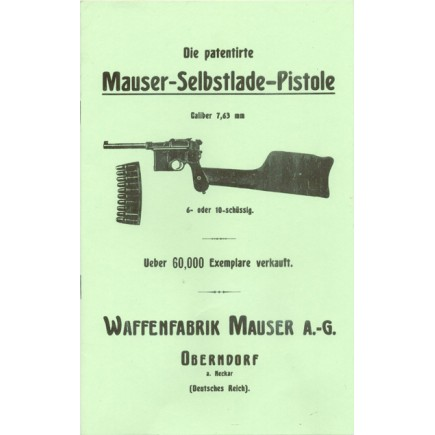Mauser Broomhandle Factory  Manual