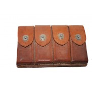 Mauser Broomhandle Leather 4 Pack Pouch